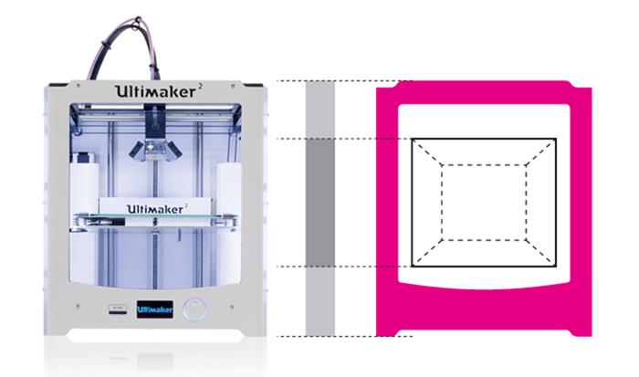Скорость печати Ultimaker 2+ 300 мм/с