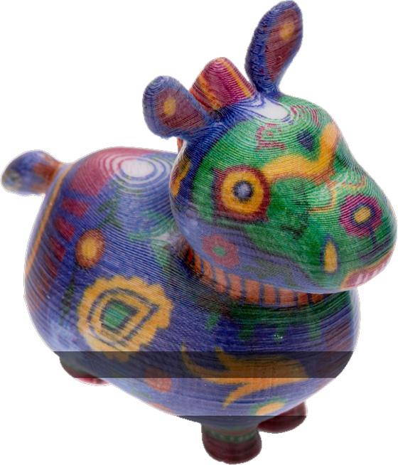 Пример печати на цветном 3D принтере XYZ Color