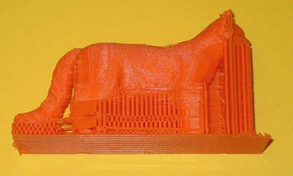 3D модель кота, напечатанная при помощи PVA пластика.