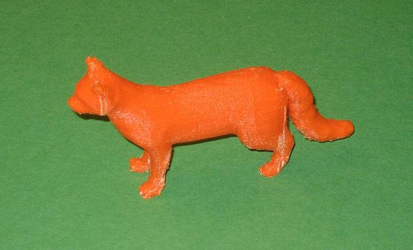 3D модель кота, после удаления поддерживающего материала.